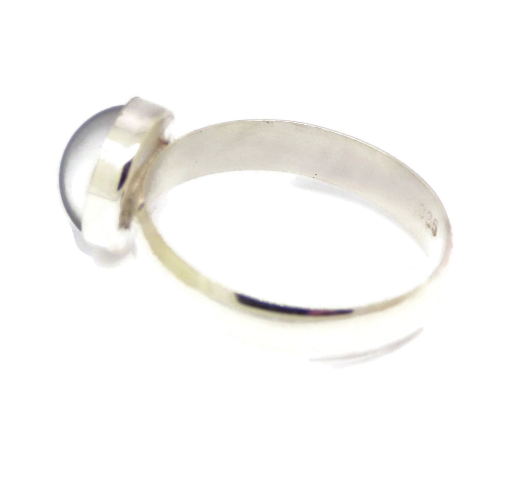 Round Mood Stone Ring Sterling Silver - Vintage Lane Jewelry