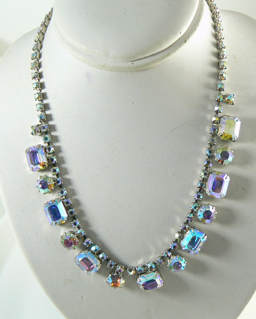 Weiss Signed Brilliant Borealis Rhinestone Parure - Vintage Lane Jewelry