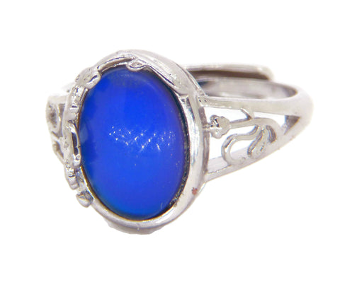 Sterling Silver Flower Mood Ring