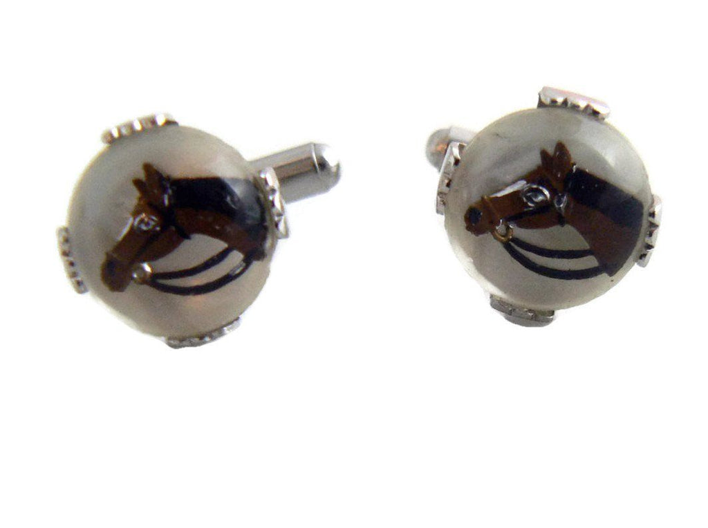 Horse Head Cufflinks - Vintage Lane Jewelry
