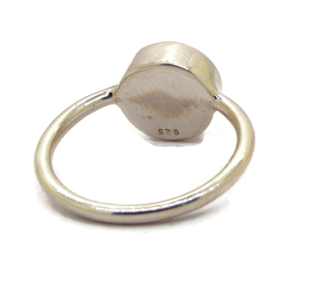 Sterling Silver 10mm Round Mood Ring - Vintage Lane Jewelry