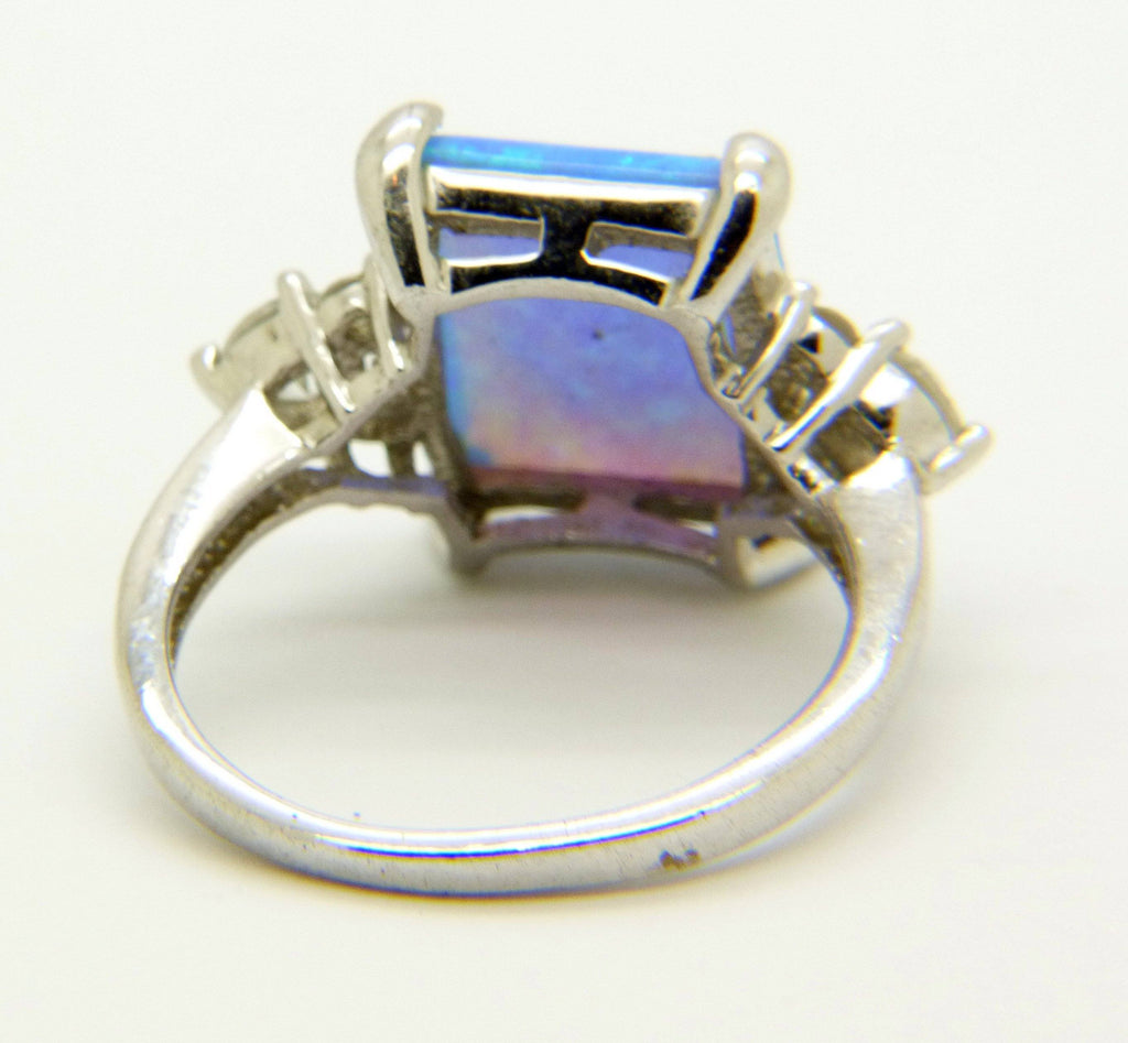 Sterling Silver Disney Glass Opal Ring - Vintage Lane Jewelry
