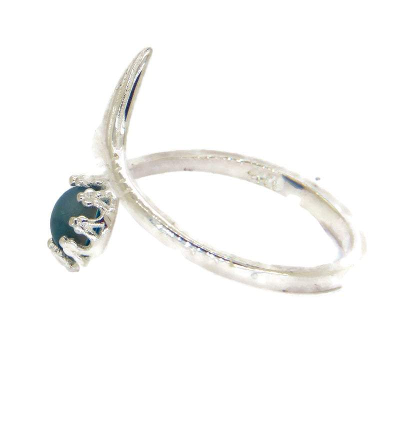 Mermaid Fish Tail Sterling Silver Mood Ring - Vintage Lane Jewelry