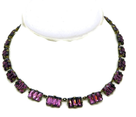 "30"" Double Strand Brown and Black Vendome Necklace"