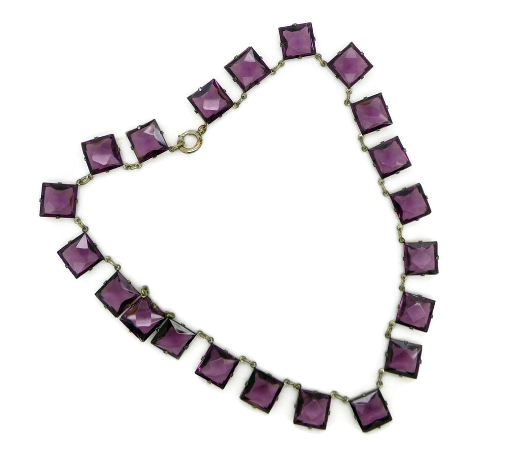 collections open fullxfull deco necklace art back amethyst jewelry crystal glass purple il products