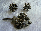 Sterling Silver Floral Demi Parure - Vintage Lane Jewelry