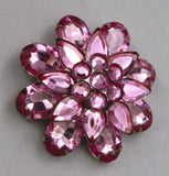 Vintage Juliana Style Pink Layered Brooch - Vintage Lane Jewelry