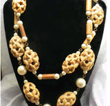 Faux Pearl, Wood Necklaces And Earrings - Vintage Lane Jewelry