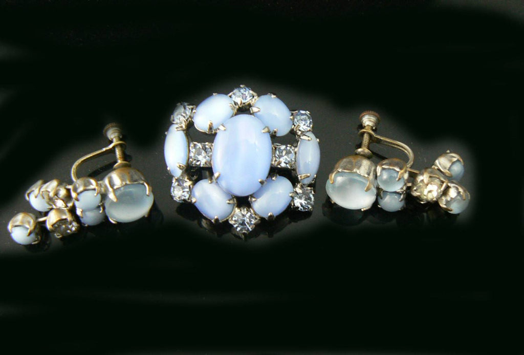Pretty Blue Married Pair - Vintage Lane Jewelry