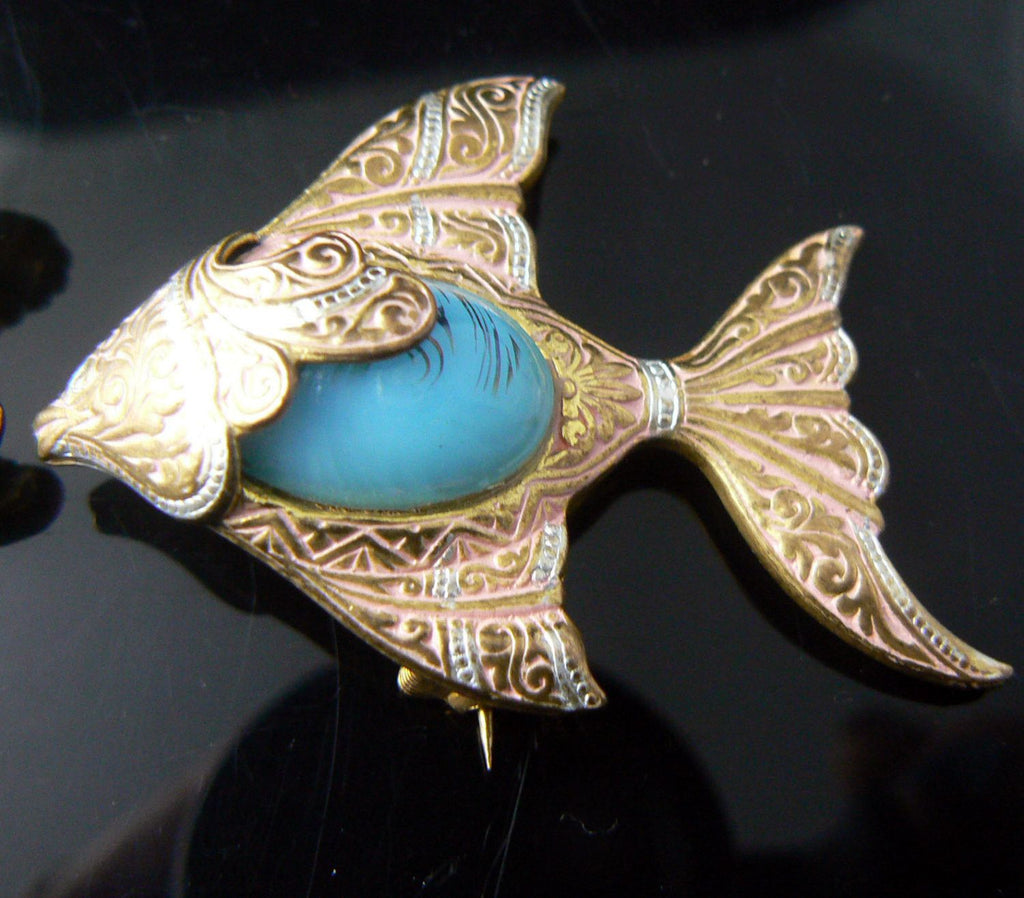 2 Vintage Fish Brooches - Vintage Lane Jewelry