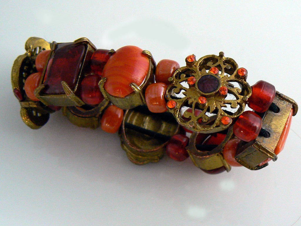 Czech Glass Bracelet - Vintage Lane Jewelry