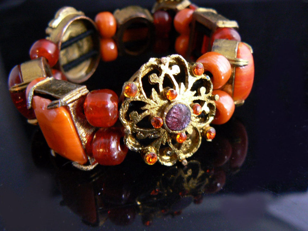 Czech Glass Bracelet - Vintage Lane Jewelry - 3