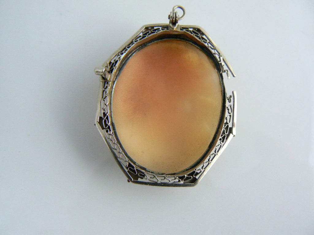 Vintage Carved Shell Cameo Pendant - Vintage Lane Jewelry