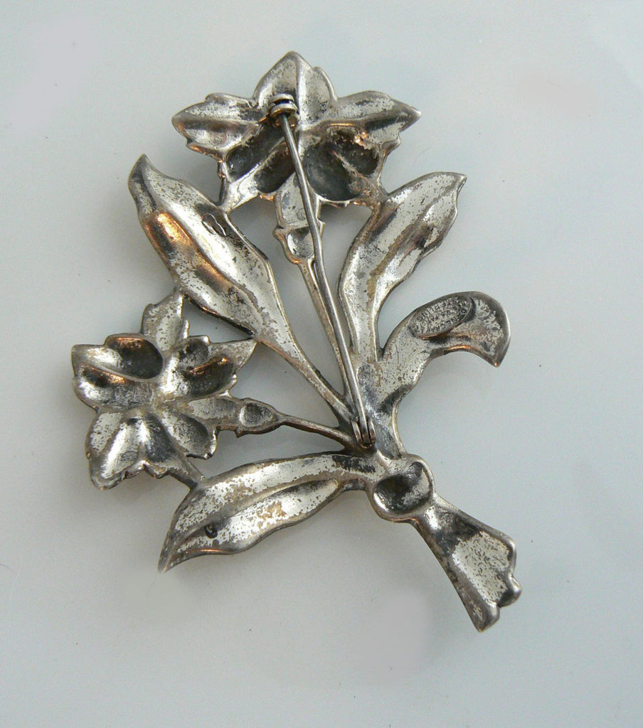 Vintage Danecraft Silver Flower Bouquet - Vintage Lane Jewelry