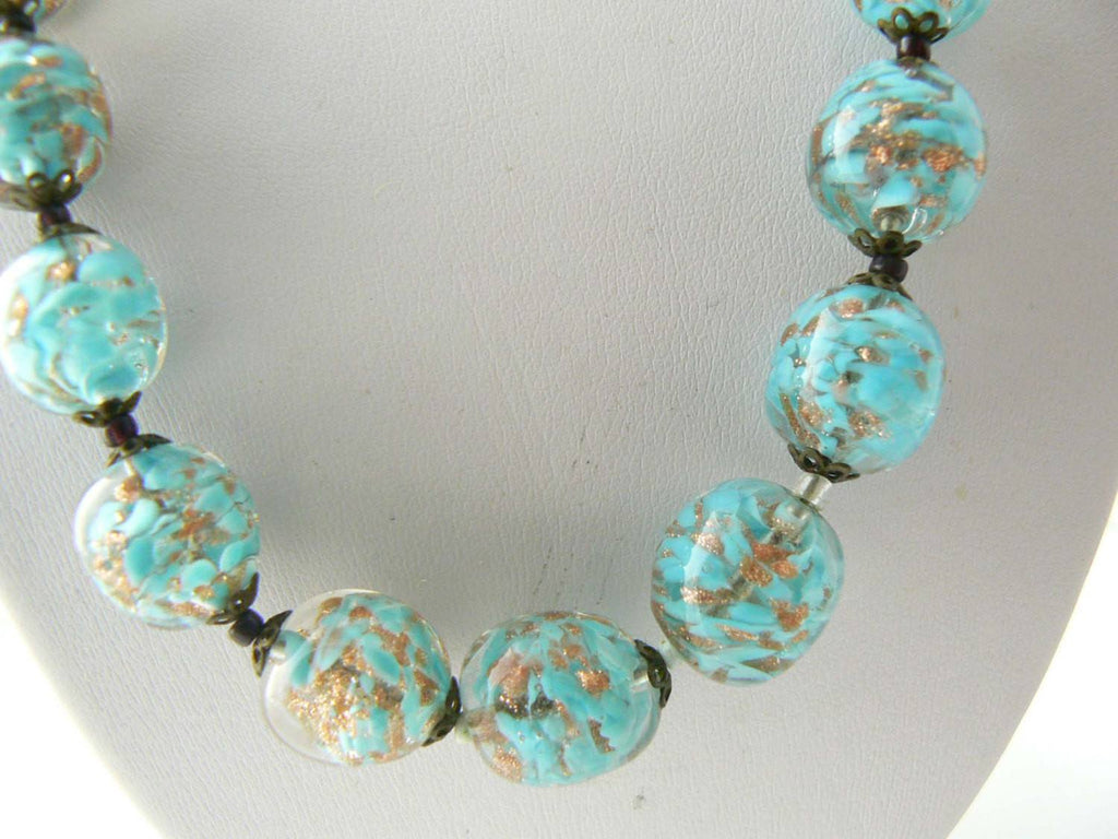 Beautiful Venetian Glass Necklace - Vintage Lane Jewelry