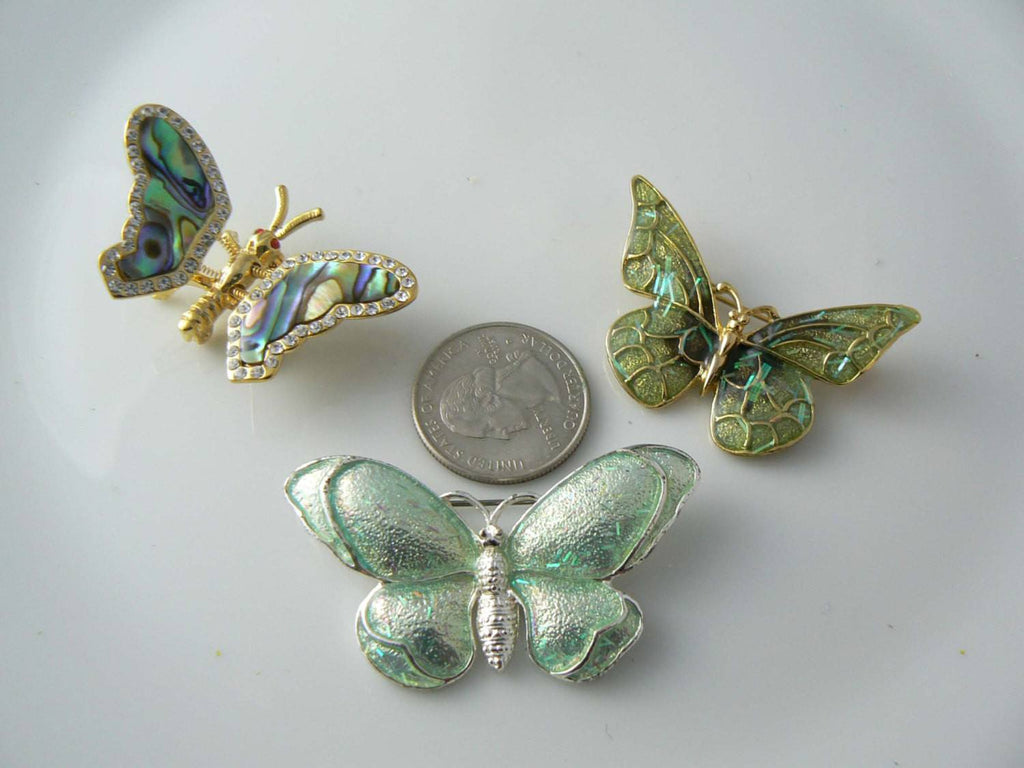 3 Vintage Butterfly Pins - Vintage Lane Jewelry