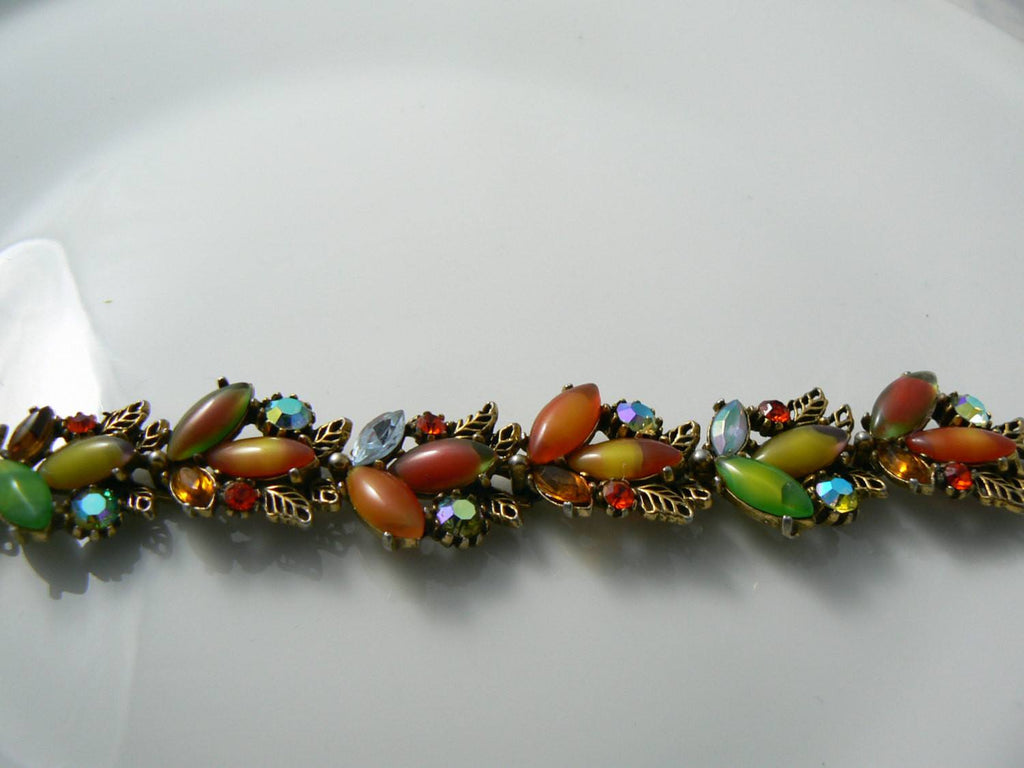 Colorful Art Glass Bracelet - Vintage Lane Jewelry