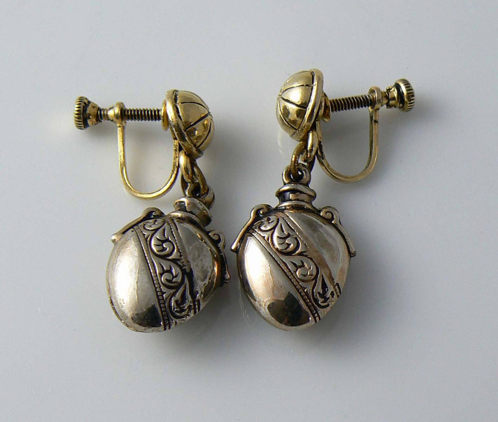 Dangling Locket Earrings - Vintage Lane Jewelry