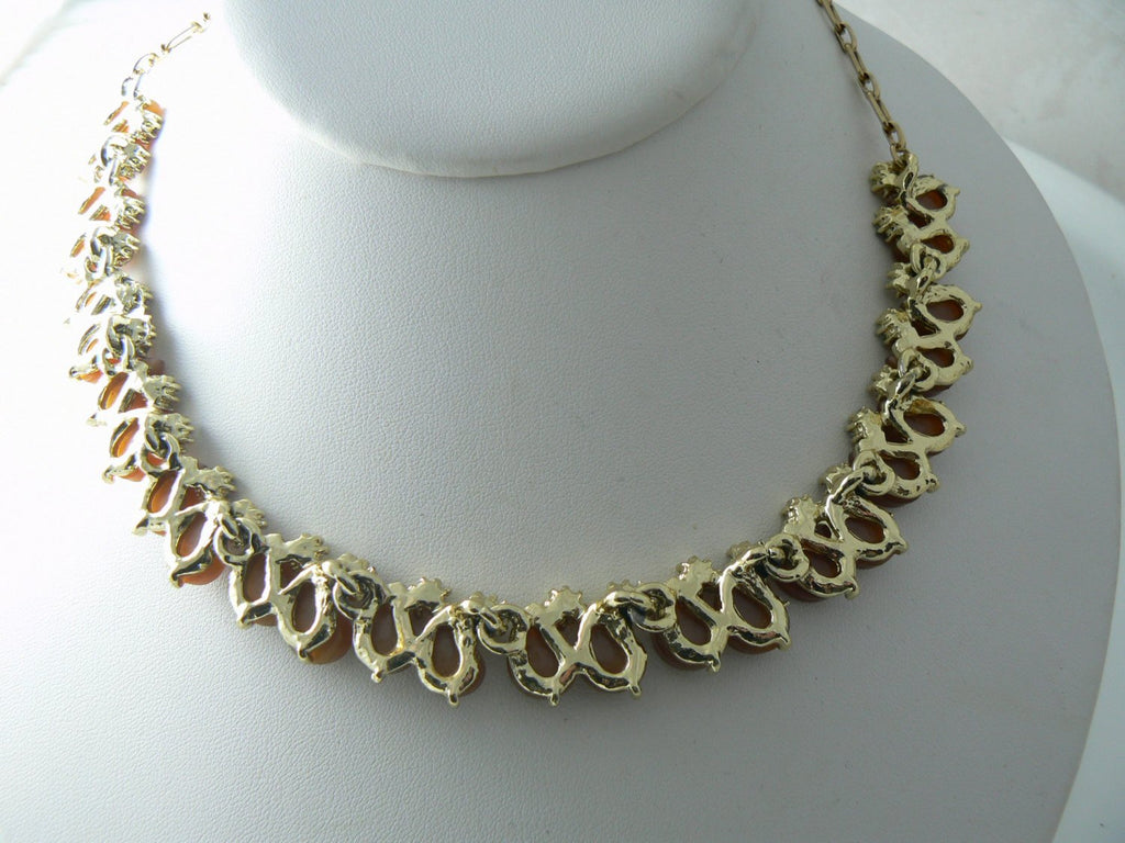 Vintage Necklace Brown Lucite Thermoset - Vintage Lane Jewelry - 3