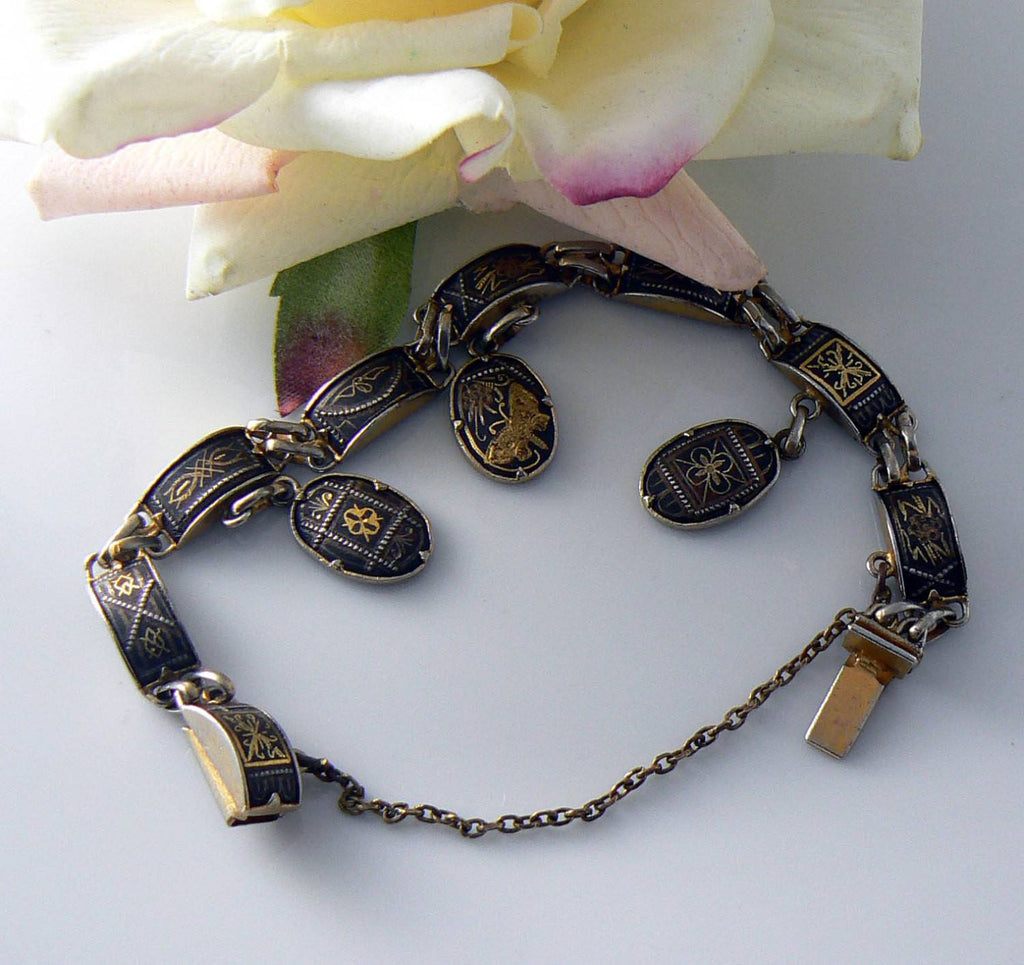 Vintage Damascene Bracelet - Vintage Lane Jewelry - 1