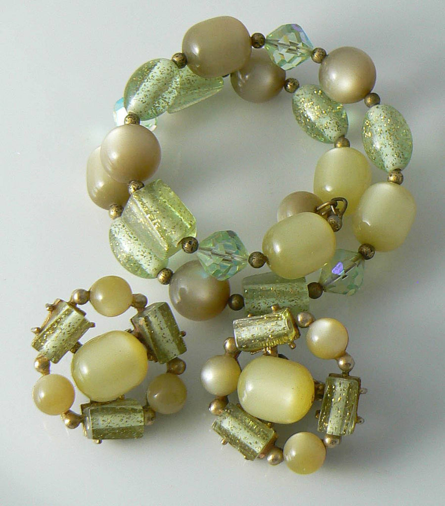 Coro Shades Of Green Parure - Vintage Lane Jewelry