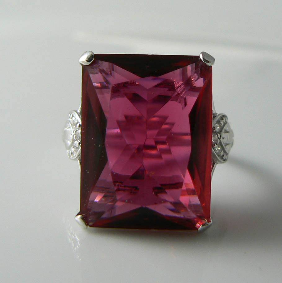40ct Huge Red Ruby Solid Sterling Silver Estate Vintage Filigree Ring - Vintage Lane Jewelry