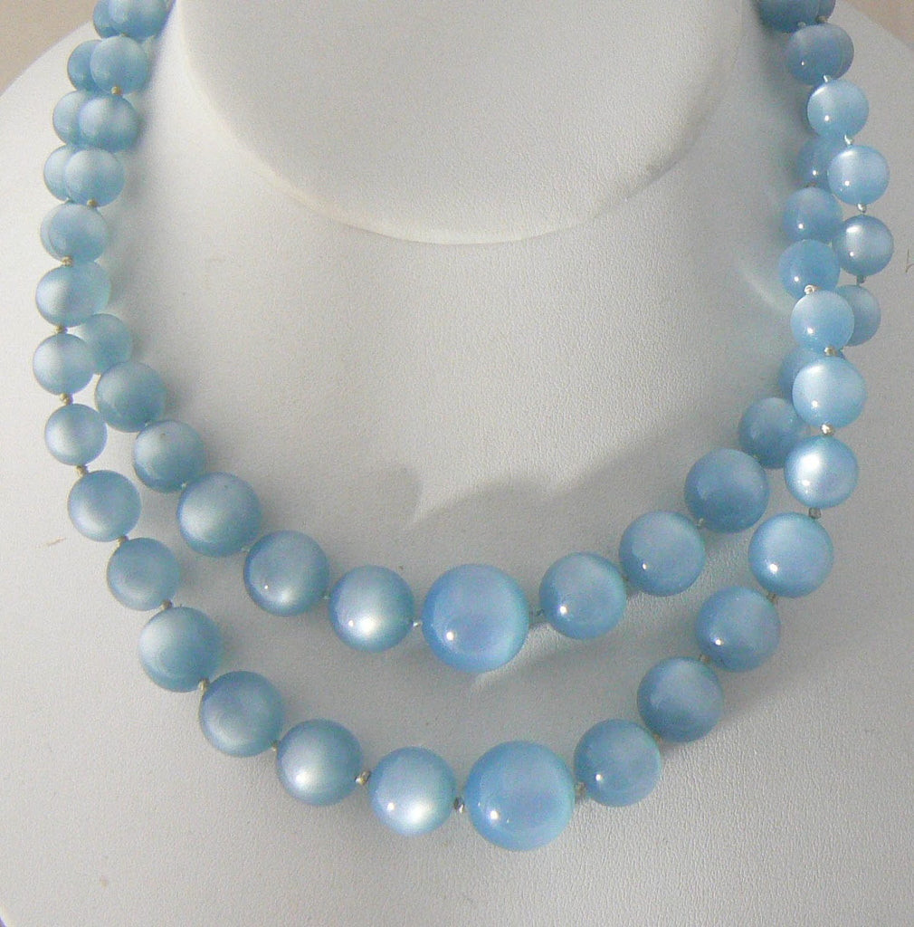Richelieu Blue Moonstones Necklace - Vintage Lane Jewelry