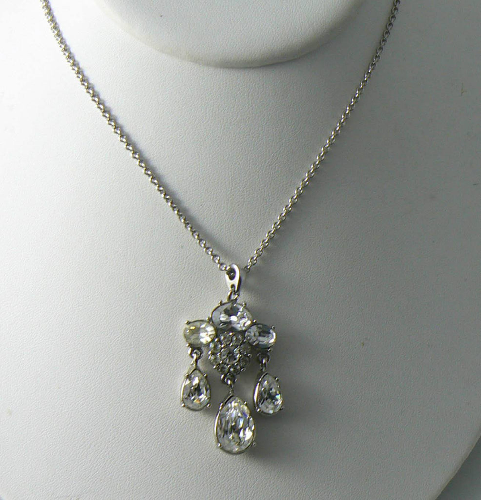 Vintage Signed Monet Faceted Rhinestone Necklace - Vintage Lane Jewelry - 2