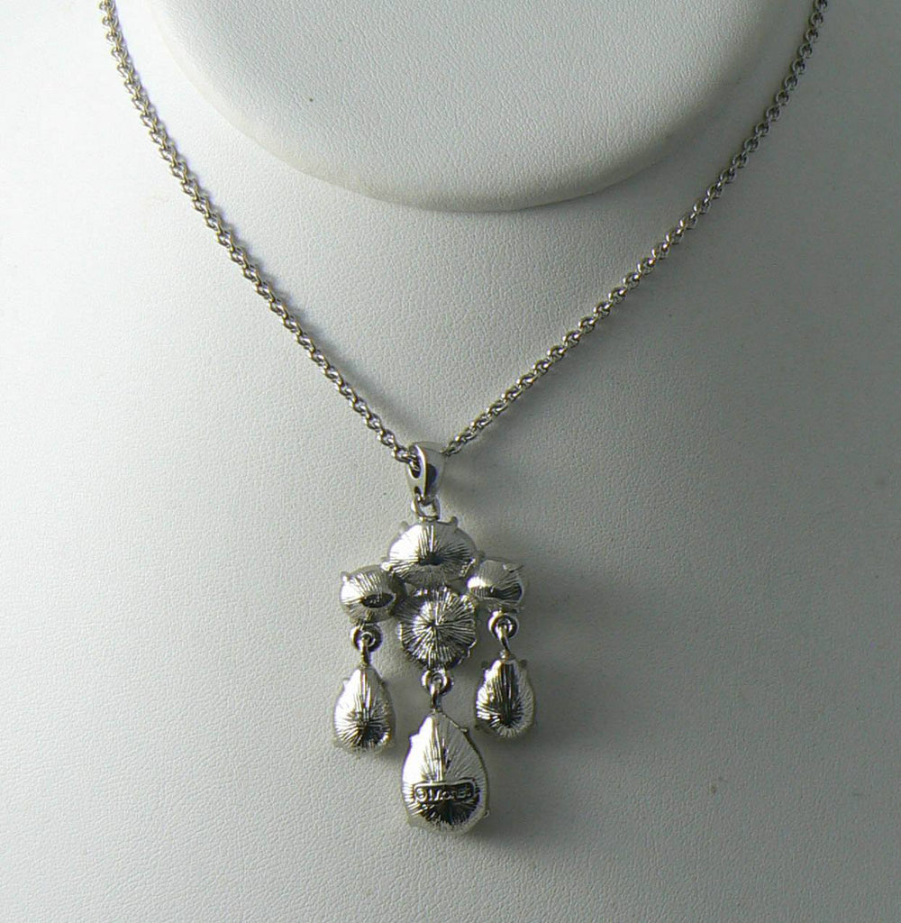 Vintage Signed Monet Faceted Rhinestone Necklace - Vintage Lane Jewelry - 3