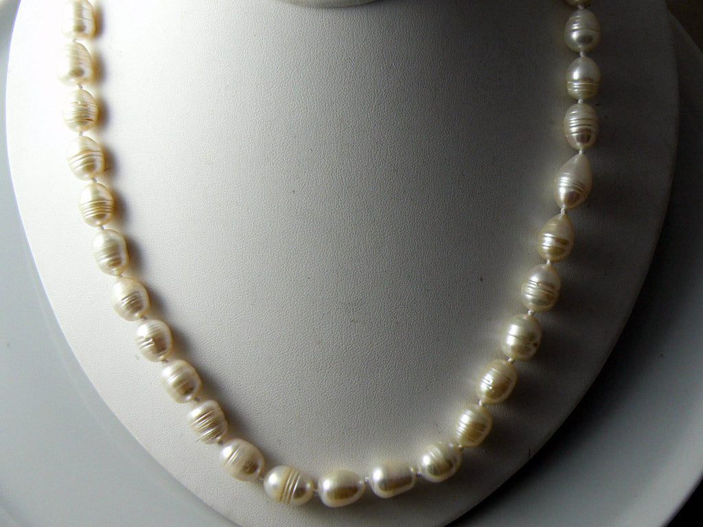 Long Baroque Akoya Cultured Pearl Necklace - Vintage Lane Jewelry