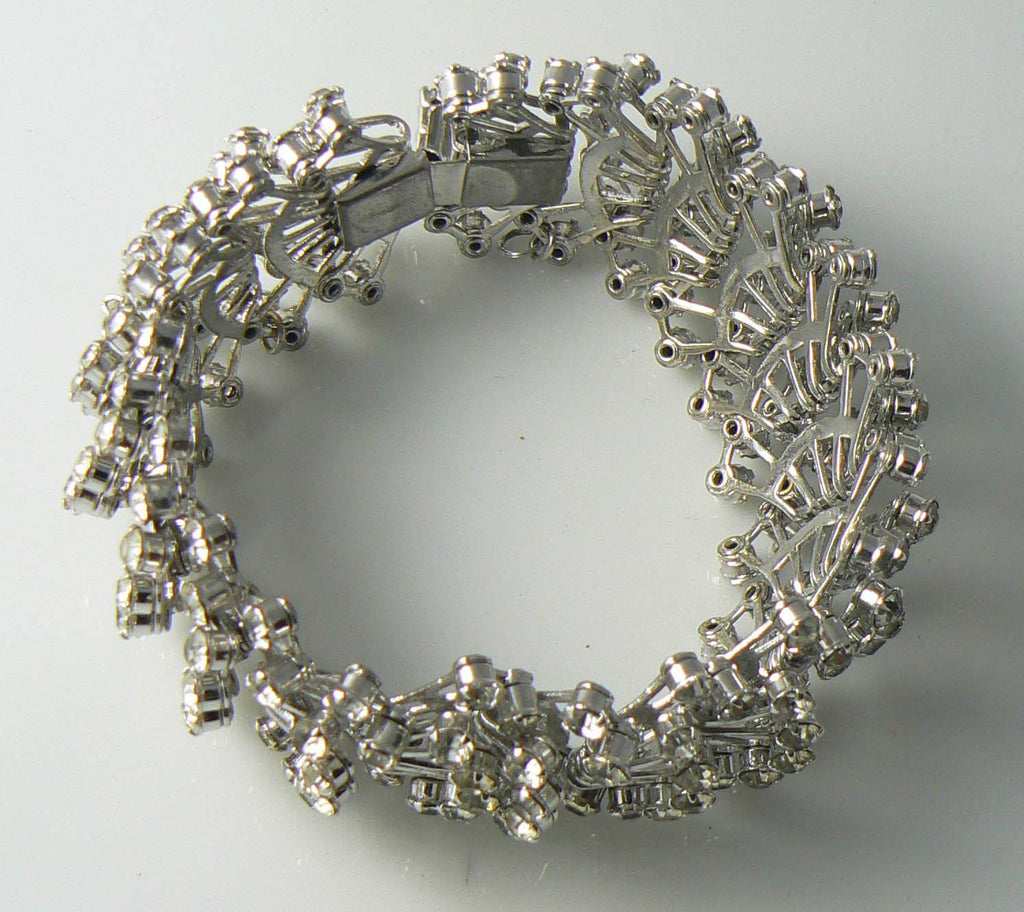 Beautiful Vintage Fan Rhinestone Bracelet - Vintage Lane Jewelry