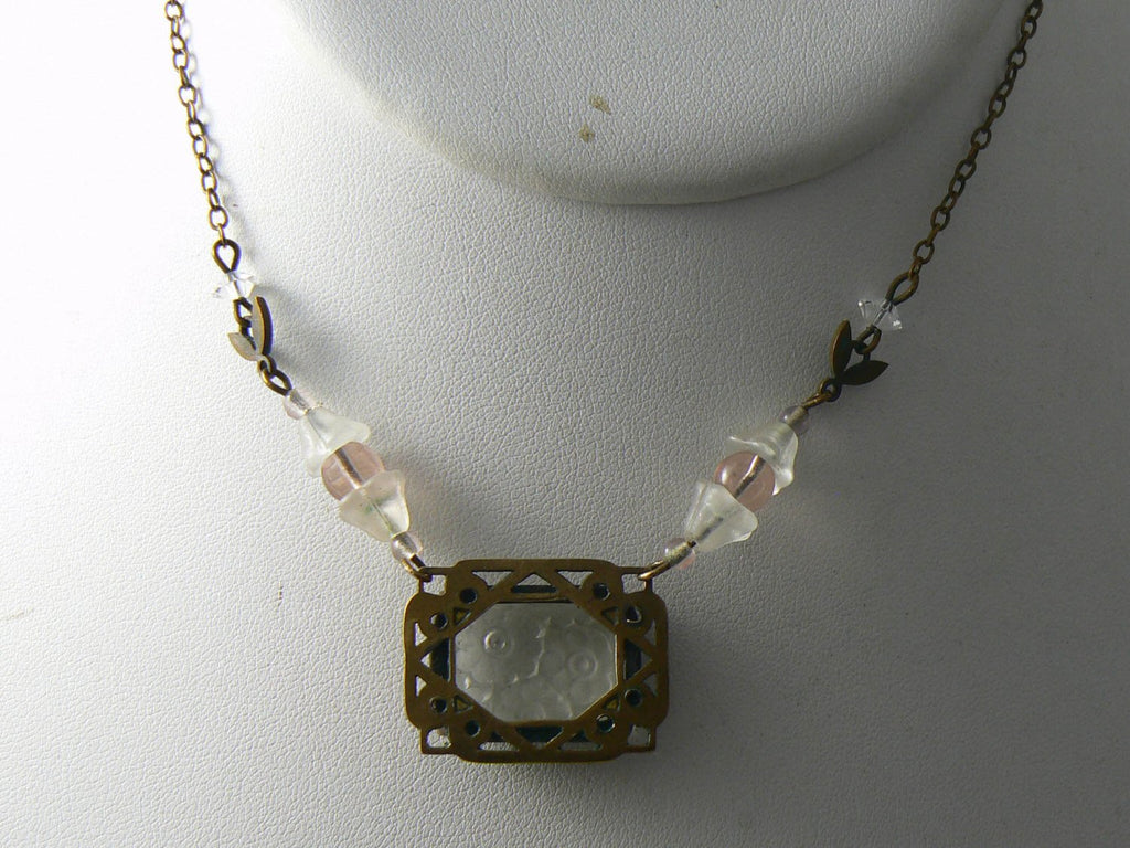 Antique camphor glass necklace - Vintage Lane Jewelry