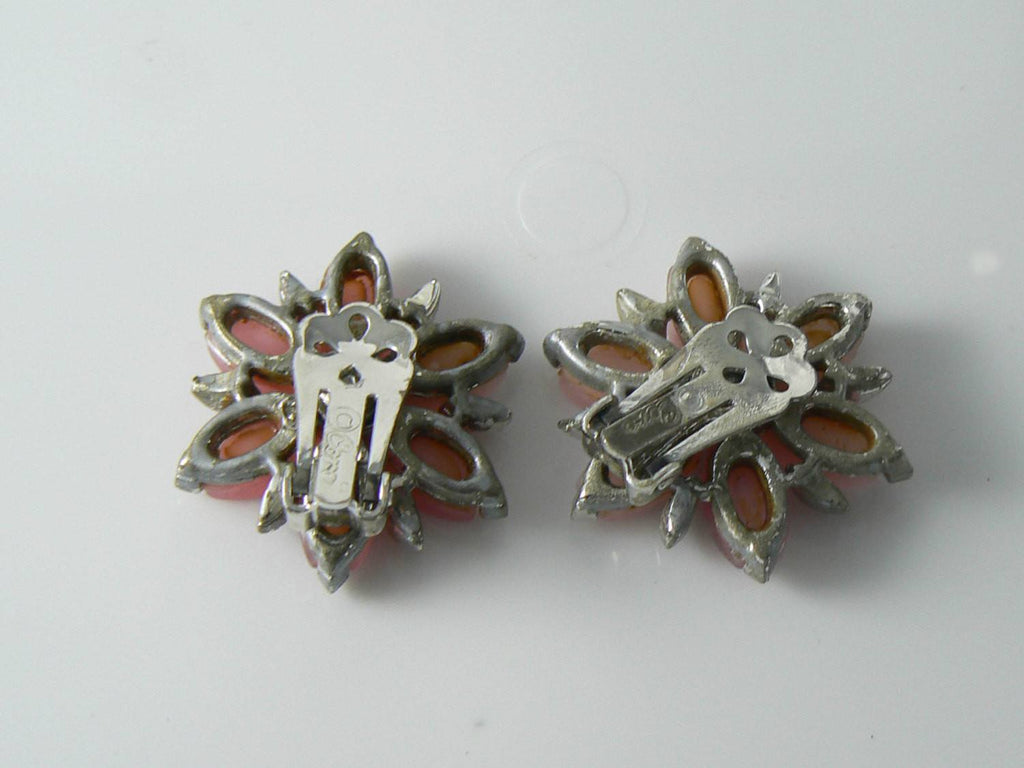 Vintage Signed Coro Flower Earrings - Vintage Lane Jewelry