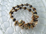 Miriam Haskell Beige And Brown Shell Necklace - Vintage Lane Jewelry