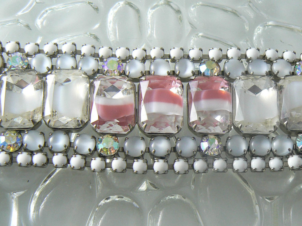 Vintage Hobe Mirror Art Glass Bracelet And Earrings - Vintage Lane Jewelry