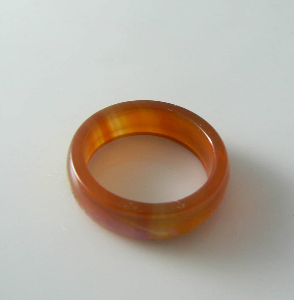 Red Agate Mood Ring Band Color Changing Ring - Vintage Lane Jewelry