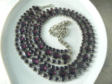 Beautiful Amethyst Purple Rhinestone Belt - Vintage Lane Jewelry