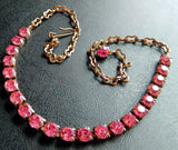 Pretty Vintage Pink Rhinestone Necklace - Vintage Lane Jewelry