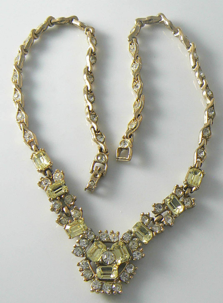 Vintage Golden Yellow Bogoff Necklace - Vintage Lane Jewelry - 1
