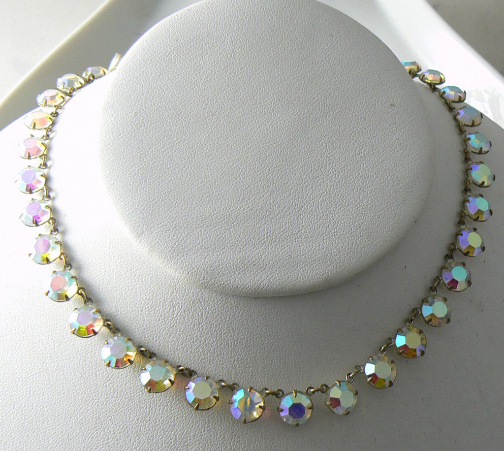 Vintage Crystal Borealis Necklace/choker - Vintage Lane Jewelry - 3