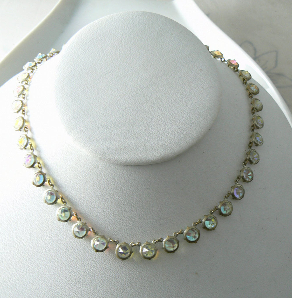 Vintage Crystal Borealis Necklace/choker - Vintage Lane Jewelry - 4