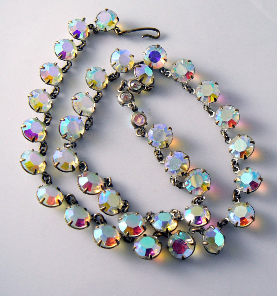 Vintage Crystal Borealis Necklace/choker - Vintage Lane Jewelry - 1
