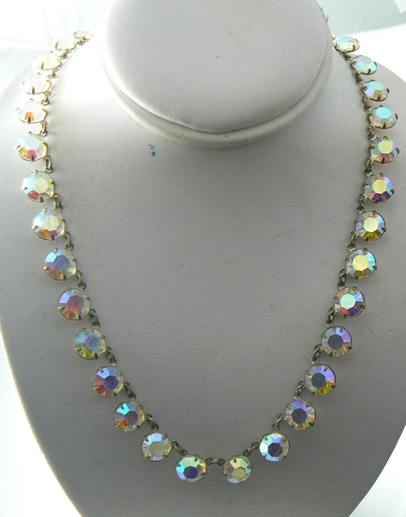Vintage Crystal Borealis Necklace/choker - Vintage Lane Jewelry