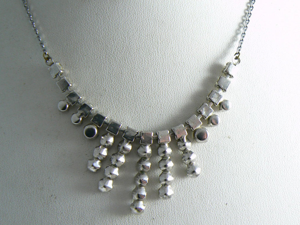 Czech Rhinestone Drop Necklace - Vintage Lane Jewelry