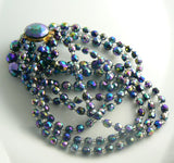 Triple Strand Carnival Glass Necklace - Vintage Lane Jewelry