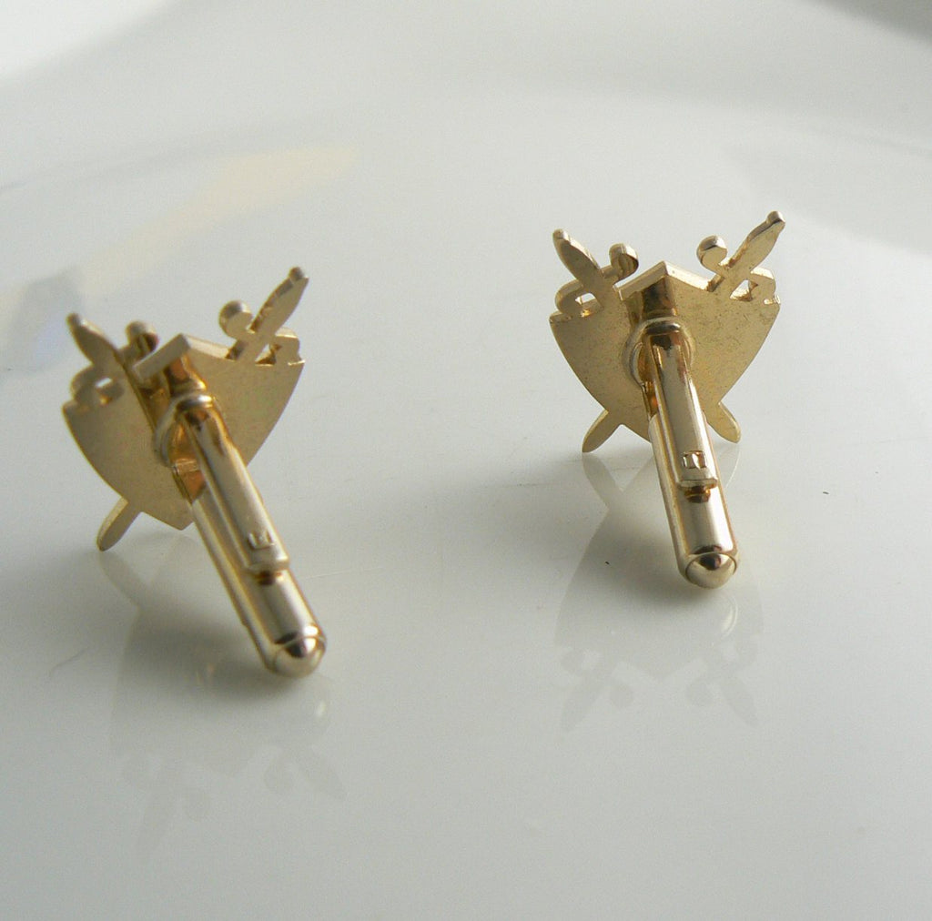 Vintage Hickok Shield Sword Cufflinks - Vintage Lane Jewelry