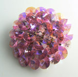 Vintage Layered Pink Crystal Brooch - Vintage Lane Jewelry