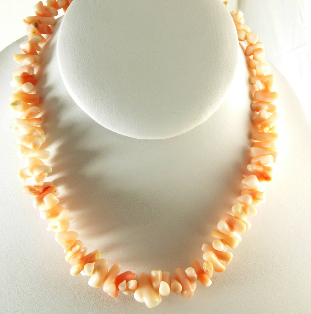 Vintage Angel Skin Coral Branch Necklace - Vintage Lane Jewelry