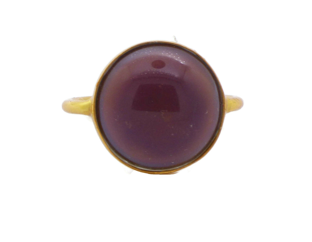 Gold Plated 18mm Round Mood Ring - Vintage Lane Jewelry