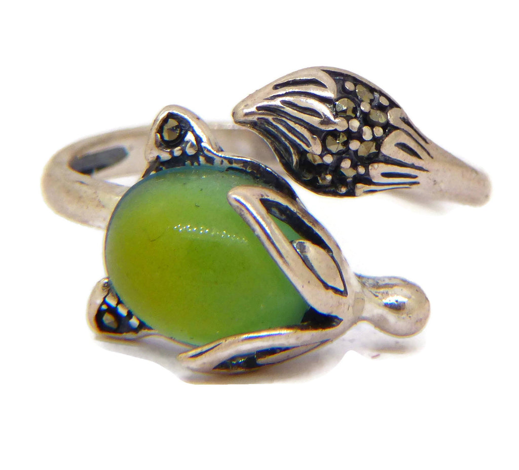 Sterling Silver Fox Mood Ring - Vintage Lane Jewelry
